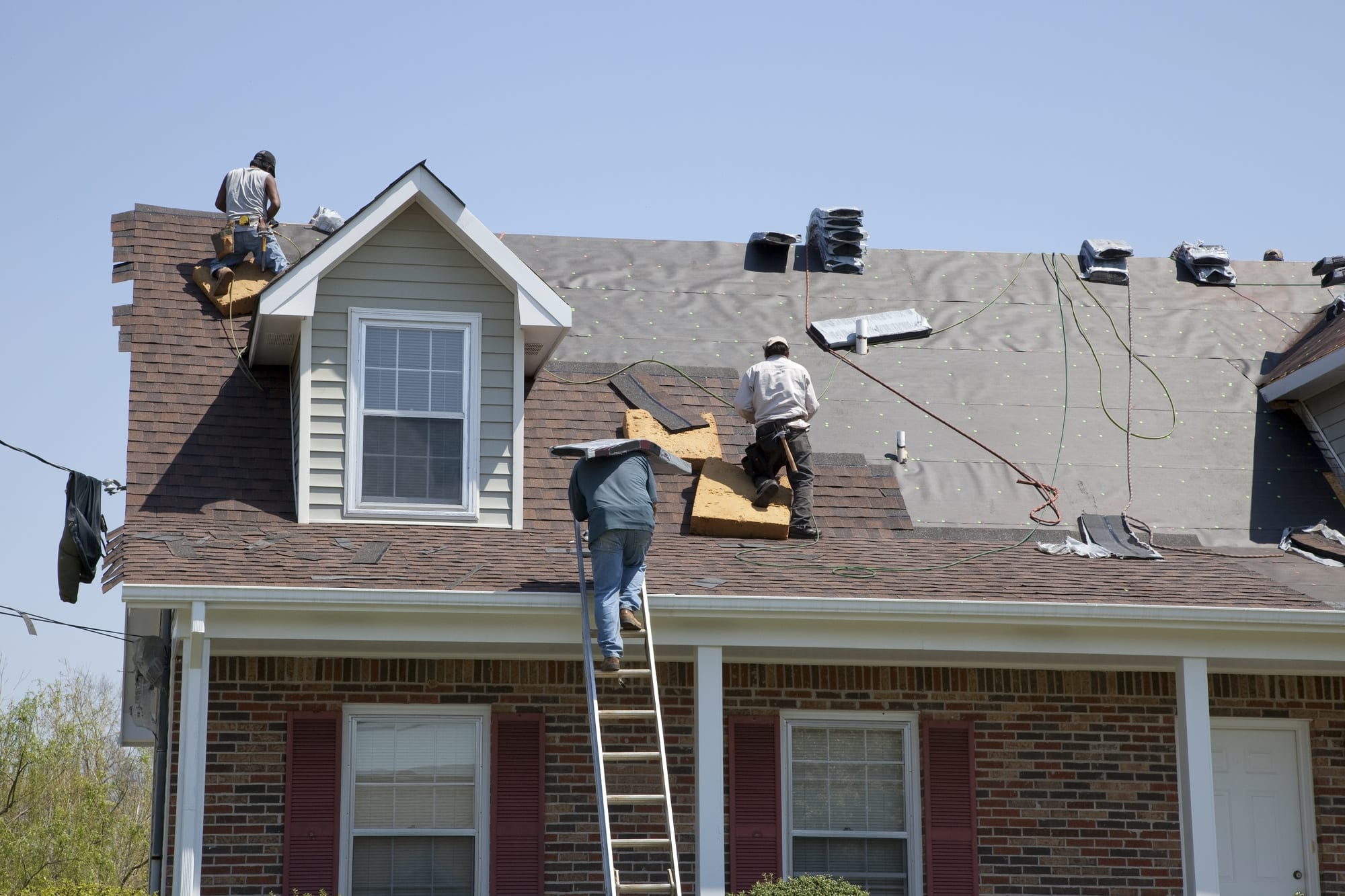 Local Roofers at Work in Whitefish Bay, WI