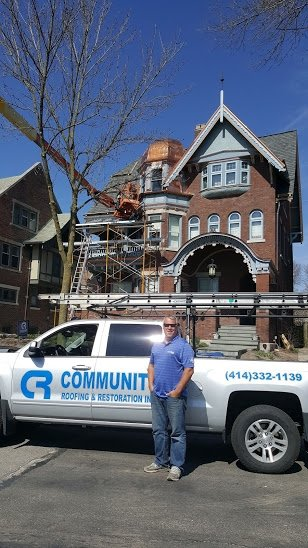 Josh Fraundorf of Community Roofing in Milwaukee's East Side